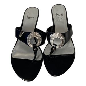 Impo Roscoe II Black Faux Leather Sandals 9M